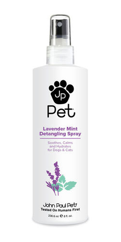 John Paul Pet Lavender Mint Detangling Spray 236,6 ml beruhigend pflegend